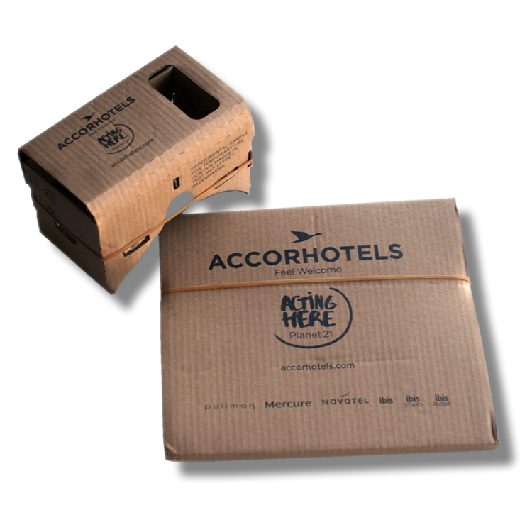 Cardboard VR accor hotels